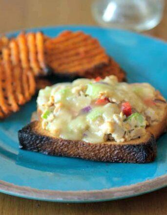 Tuna Melt + Baked Sweet Potato Fries