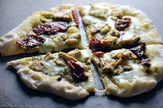 Grilled Pesto Chicken Pizza