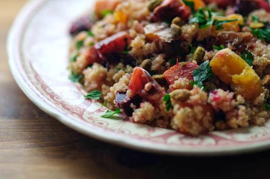 Green Kitchen Quinoa Salad with Beets + Oranges - Healthy Green ...