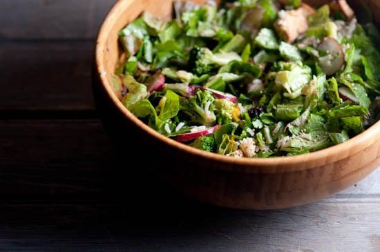 Summer Salad with Jasmine Rice, Tofu, and Broccoli | Healthy Green Kitchen