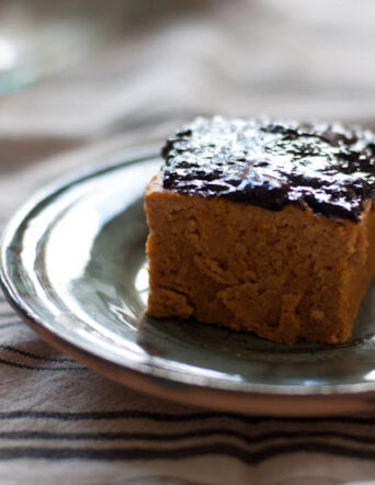 High Protein Pumpkin Cake with Chocolate Frosting
